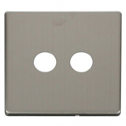 Click Definity SCP232SS Twin Coaxial/Satellite Cover Plate in Stainless Steel