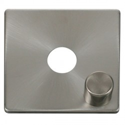 Click Definity SCP241BS 1 Gang Dimmer Switch Cover Plate in Brushed Steel
