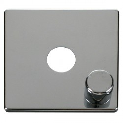 Click Definity SCP241CH 1 Gang Dimmer Switch Cover Plate in Polished Chrome