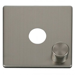Click Definity SCP241SS 1 Gang Dimmer Switch Cover Plate in Stainless Steel