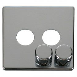 Click Definity SCP242CH 2 Gang Dimmer Switch Cover Plate in Polished Chrome