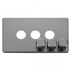 Click Definity SCP243CH 3 Gang Dimmer Switch Cover Plate in Polished Chrome