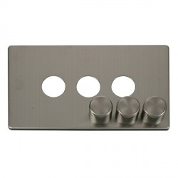 Click Definity SCP243SS 3 Gang Dimmer Switch Cover Plate in Stainless Steel
