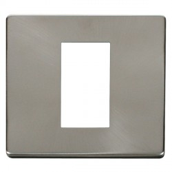 Click Definity SCP310BS Single Plate Single Aperture Cover Plate in Brushed Steel