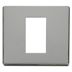 Click Definity SCP310CH Single Plate Single Aperture Cover Plate in Polished Chrome