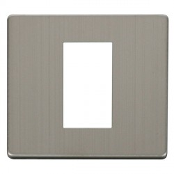 Click Definity SCP310SS Single Plate Single Aperture Cover Plate in Stainless Steel