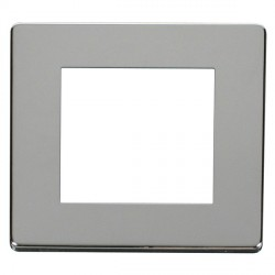Click Definity SCP311CH Single Plate Twin Aperture Cover Plate in Polished Chrome