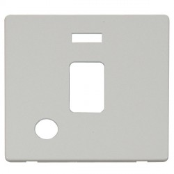 Click Definity SCP323PW 20A DP Switch with Flex Outlet and Neon Cover Plate in Polar White
