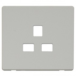 Click Definity SCP430PW UK 1 Gang 13A Socket Outlet Cover Plate in Polar White