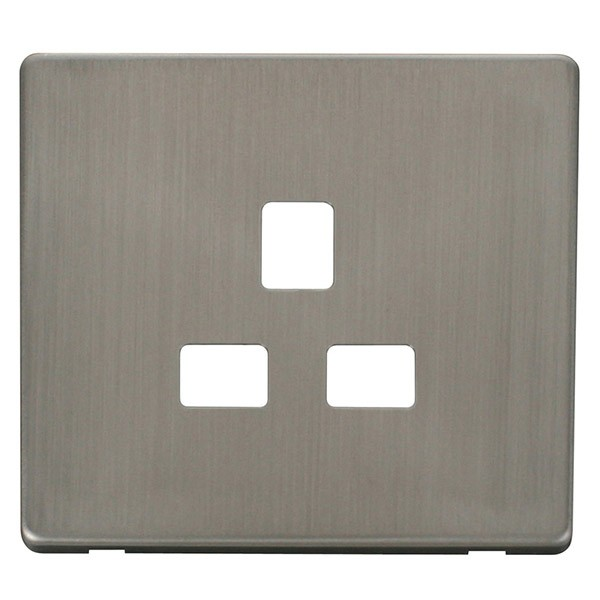 Metal Electrical Outlet Covers Oversized Outlet Covers: Click Definity SCP430SS UK 1 Gang 13A Socket Outlet Cover
