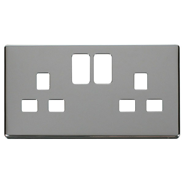 Electric Socket Cover Plates Prepossessing Click Definity Scp436Ch Uk 2 Gang 13A Switched Socket Outlet Cover 2017