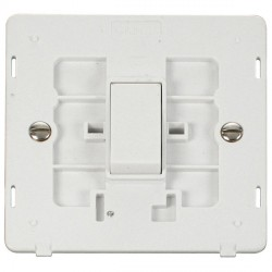 Click Definity SIN011PW 10AX 1 Gang 2 Way Switch Insert in Polar White