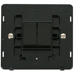 Click Definity SIN012BK 10AX 2 Gang 2 Way Switch Insert in Black