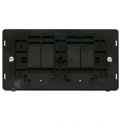 Click Definity SIN019BK 10AX 4 Gang 2 Way Switch Insert (2 x 2) in Black
