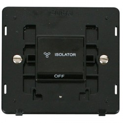 Click Definity SIN020BK 10A 3 Pole Fan Isolation Switch Insert in Black