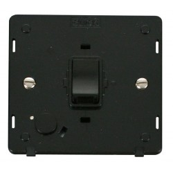 Click Definity SIN022BK 20A DP Switch with Flex Outlet Insert in Black