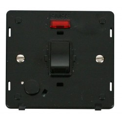 Click Definity SIN023BK 20A DP Switch with Flex Outlet and Neon Insert in Black