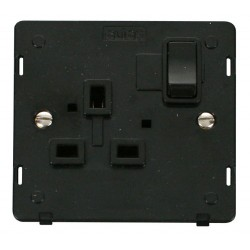 Click Definity SIN035BK UK 1 Gang 13A Switched Socket Outlet Insert in Black
