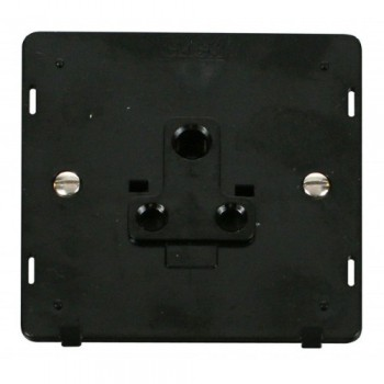 Click Definity SIN038BK 1 Gang 5A Round Pin Socket Outlet Insert In Black