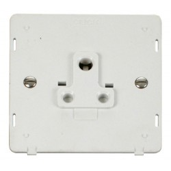 Click Definity SIN038PW 1 Gang 5A Round Pin Socket Outlet Insert in Polar White