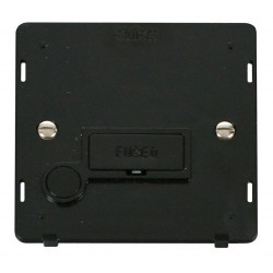 Click Definity SIN050BK 13A Fused Connection Unit Insert with Flex Outlet in Black