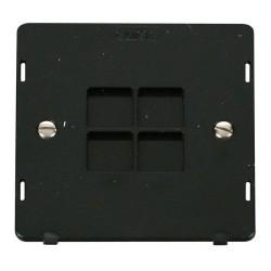 Click Definity SIN060BK 1 Gang Blank Plate Insert in Black