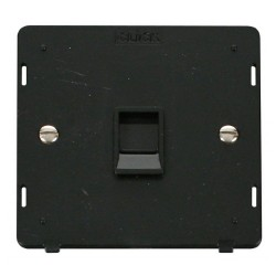 Click Definity SIN115BK Single RJ11 Socket Outlet Insert in Black