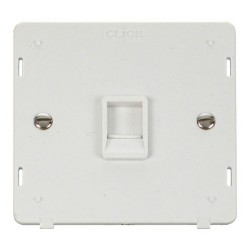 Click Definity SIN115PW Single RJ11 Socket Outlet Insert in Polar White