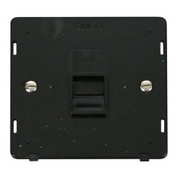 Click Definity SIN120BK Single Telephone Outlet Master in Black