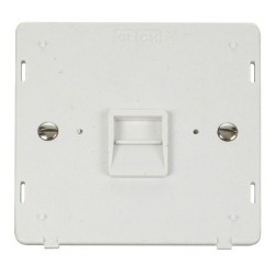 Click Definity SIN120PW Single Telephone Outlet Master in Polar White