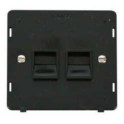 Click Definity SIN121BK Twin Telephone Outlet Master in Black