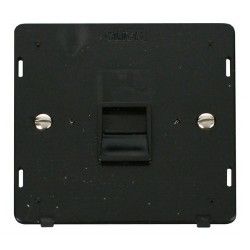 Click Definity SIN125BK Single Telephone Outlet Secondary in Black
