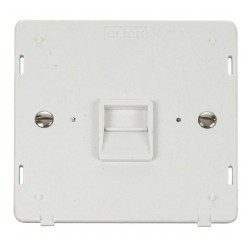 Click Definity SIN125PW Single Telephone Outlet Secondary in Polar White