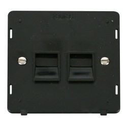 Click Definity SIN126BK Twin Telephone Outlet Secondary in Black