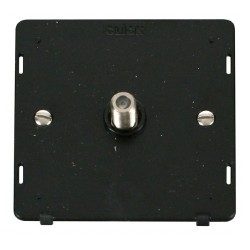 Click Definity SIN156BK Single Satellite Socket Insert in Black