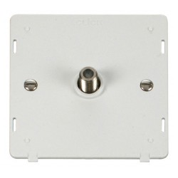 Click Definity SIN156PW Single Satellite Socket Insert in Polar White