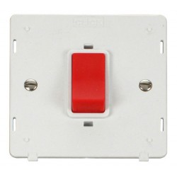 Click Definity SIN200PW 45A 1 Gang DP Switch Insert in Polar White