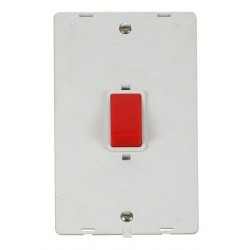 Click Definity SIN202PW 45A 2 Gang DP Switch Insert in Polar White
