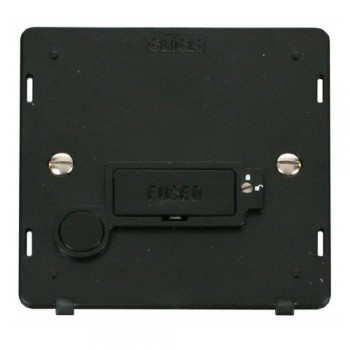Click Definity SIN250BK Lockable 13A Fused Connection Unit Insert with Flex Outlet in Black