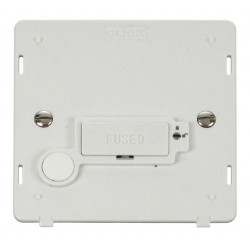 Click Definity SIN250PW Lockable 13A Fused Connection Unit Insert with Flex Outlet in Polar White