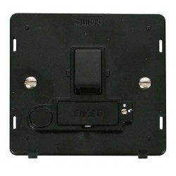 Click Definity SIN251BK Lockable 13A Switched Fused Connection Unit Insert with Flex Outlet in Black