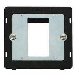 Click Definity SIN310BK Single Plate Single Aperture Insert in Black