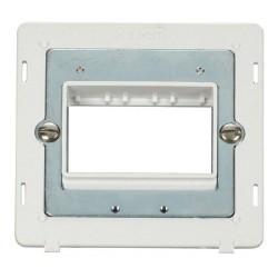 Click Definity SIN403PW Single Plate Triple Aperture Insert in Polar White