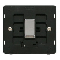 Click Definity SIN411BKCH 10AX 1 Gang 2 Way Switch Insert, Black with Polished Chrome Switch