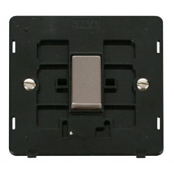 Click Definity SIN425BKSS 10AX 1 Gang Intermediate Switch Insert, Black with Stainless Steel Switch