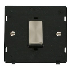 Click Definity SIN500BKBS 45A 1 Gang Plate DP Switch Insert, Black with Brushed Steel Switch