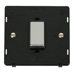 Click Definity SIN500BKCH 45A 1 Gang Plate DP Switch Insert, Black with Polished Chrome Switch