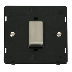 Click Definity SIN500BKSS 45A 1 Gang Plate DP Switch Insert, Black with Stainless Steel Switch
