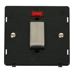 Click Definity SIN501BKSS 45A 1 Gang Plate DP Switch With Neon Insert, Black with Stainless Steel Switch