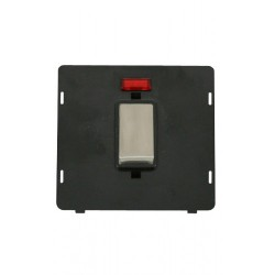 Click Definity SIN503BKSS 45A 2 Gang Plate DP Switch With Neon Insert, Black with Stainless Steel Switch